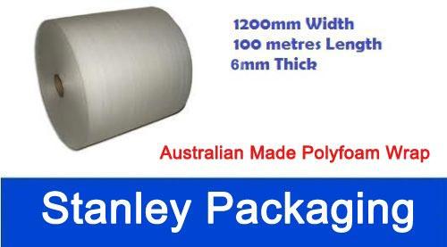 Polyfoam 1200mm x 100m Thick Packing Foam Wrap Roll 6mm Foam Wrap
