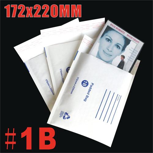 172x220mm Plain White Bubble Padded Bag Mailer Envelope