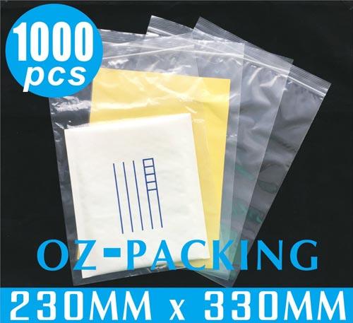 1000 x Zip Lock 230X330mm Resealable Ziplock Plastic Bags