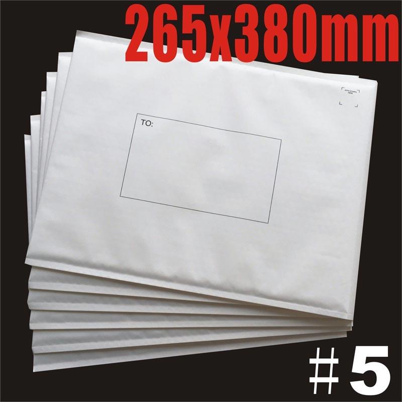 265x380mm Plain White Bubble Padded Bag Mailer Envelope