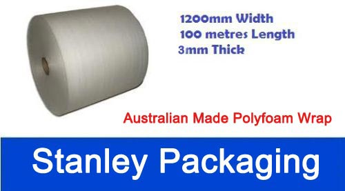 Polyfoam 1200mm x 100m Thick Packing Foam Wrap Roll 3mm Foam Wrap