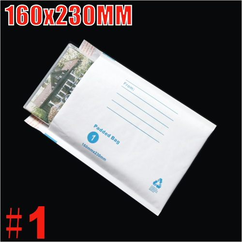 160x230mm Plain White Bubble Padded Bag Mailer Envelope