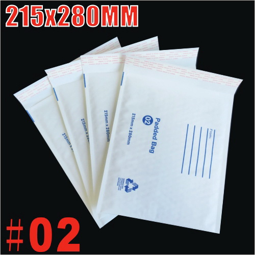 215x280mm Plain White Bubble Padded Bag Mailer Envelope