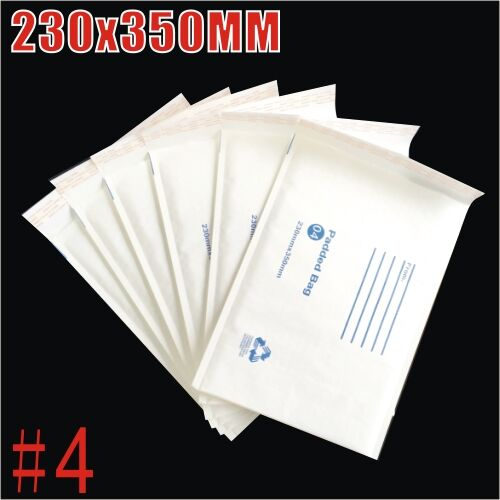 230x350mm Plain White Bubble Padded Bag Mailer Envelope