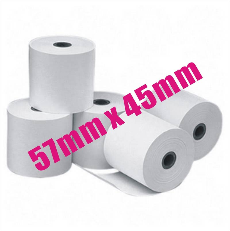57x45mm Premium Thermal Paper Cash Register Receipt Rolls EFTPOS