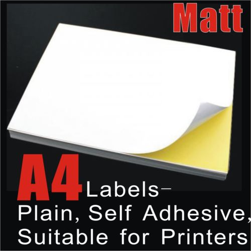 A4 White Matte Self Adhesive Sticker Paper Sheet Label Laser Inkjet Print